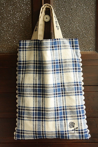 handmade tote by cottonblue