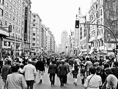 Cien aos (Alejandra Click) Tags: madrid city people urban bw espaa streets blog spain gente ciudad urbano calles