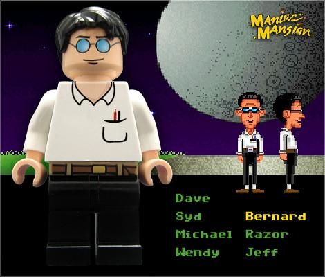 Bernard (Maniac Mansion) custom minifig