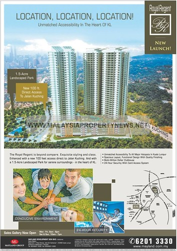 Royal Regent condominiums for sale in Kuala Lumpur by Mayland