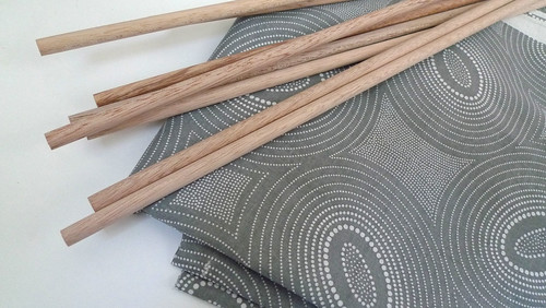 fabric and dowels