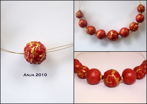 Necklace Baroque Red & Gold