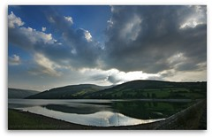 TALYBONT STORM. THE BRECON BEACONS, WALES. (IMAGES OF WALES.... (TIMWOOD)) Tags: sky sun mountains water birds wales clouds reflections sony south lakes reservoir hills alpha brecon beacons mid swallows talybont a700