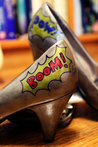 Boom! Pow! Action Shoes