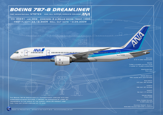 ANA All Nippon Airways Colors Boeing 787-8 Dreamliner N787EX 002