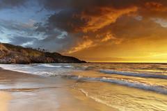 Hapuna Light #1 - Hapuna Beach, Big Island, Hawaii (PatrickSmithPhotography) Tags: ocean sunset sea wallpaper sky usa cloud seascape reflection beach landscape volcano hawaii sand bravo unitedstates wave bigisland mauna kea kilauea loa kohala vog hapuna photocontesttnc11