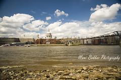London by River Thames (~FreeBirD~) Tags: uk bridge england london ferry thames clouds cloudy wideangle southbank riverthames natwest 10mm stpaulchurch manibabbar maniya nikond700 manibabbarphotography