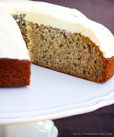 Banana Cake with White Chocolate Cream Cheese Frosting