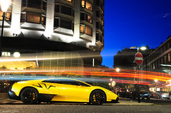 LP670-4 SuperVeloce (Laurens Grim) Tags: london yellow night speed dark photography nikon grim engine fast automotive super rims laurens lamborghini supercar sv sportscar 2010 horsepower 18105 veloce d90 superveloce lp6704