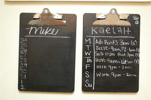Chalkboard Schedules