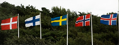 Nordic Five (photo.klick) Tags: hotel sweden flags photoblog nordic jol tylsand katsingercom