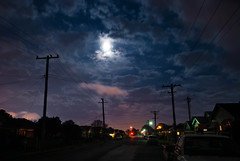 Moonrise (Roanish) Tags: street moon night clouds lights nikon australia moonrise nsw 1750 28 tamron vc mayfield suberbs d80 australiansuburbs