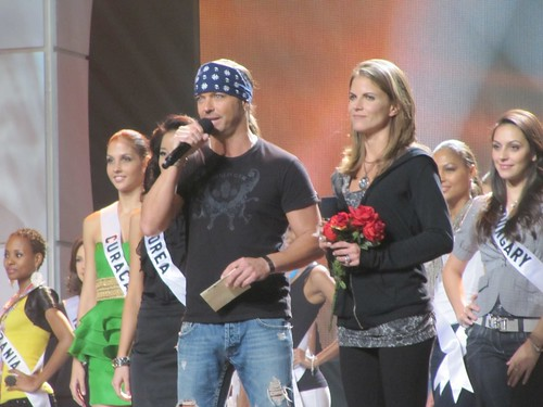 Brett Michaels & Natalie Morales at Miss Universe 2010