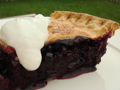 Wild Blueberry Pie With Greek Yogurt