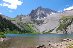 Mountain and lake colors (Lynn photographing the world) Tags: mountain lake snow tree water rock pine forest colorado shore mygearandmepremium mygearandmebronze mygearandmesilver mygearandmegold mygearandmeplatinum mygearandmediamond