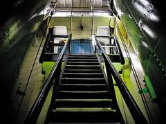 Green Stairway (Chris. W) Tags: bridge light green tower towerbridge dark stair stairway stirs