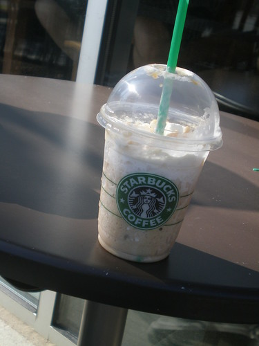 Drinking some Starbucks