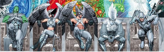 DC Comics White Lantern J'onn J'onzz Hawkwoman Hawkman Firestorm Hawk