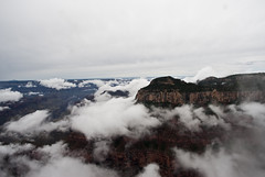 Fog over the Grand Canyon North Rim
