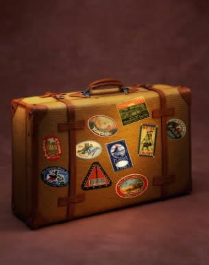 Luggage with Stickers