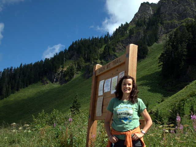 Joan at the Sauk Mt. Trailhead