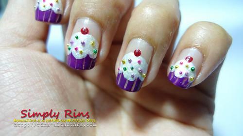 Nail Art Cupcakes 07 - Nail Art: Cupcakes Simply Rins