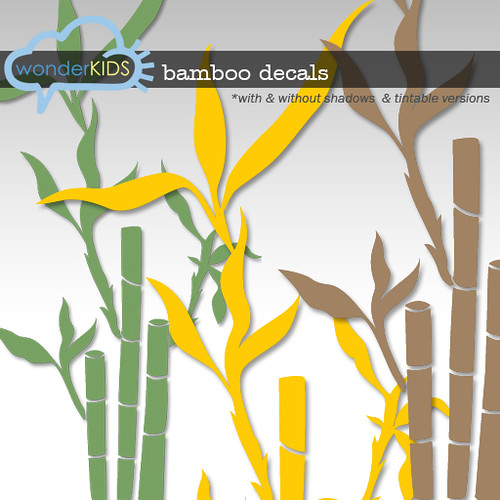 <(wonderkids)! bamboo decals display