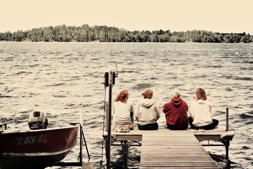 Girls on the Dock
