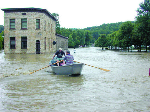 Glen Jean, West Virginia experiences repeated flooding to homes, businesses and roads, creating a hazard to health, property and the environment.