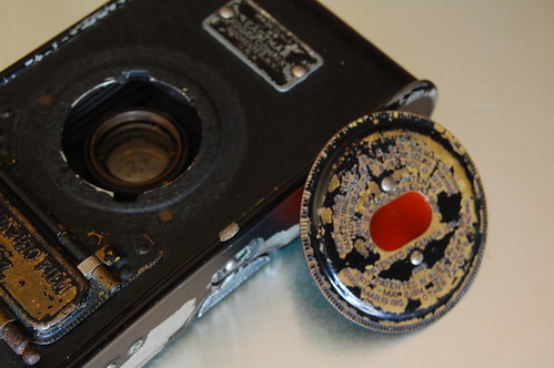Vest Pocket Kodak Autographic back port removed