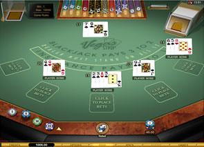 Multi-Hand Vegas Stip Blackjack Gold