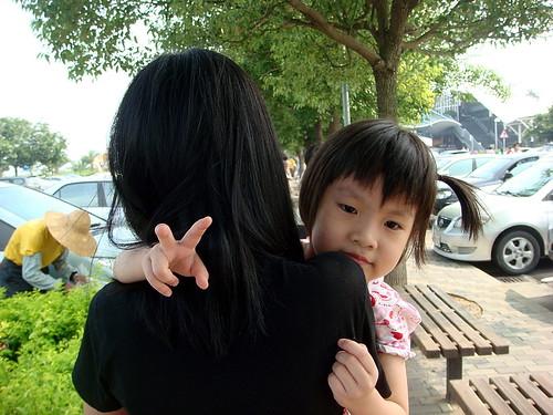 蓁妮抱著荳荳@「清水休息站」