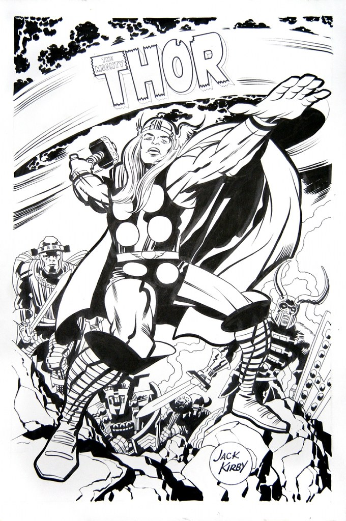 Thor Marvelmania poster by Jack Kirby