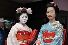 Momifuku & Chizu (_Codename_) Tags: japan kyoto locals maiko geisha gion pontocho 2010
