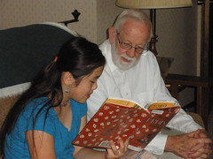Sophia Reading Papa His Favorite Book