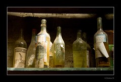 Magic Potions...? (crispin52) Tags: old colours bottles creative moment urbanexplorer creativemoment