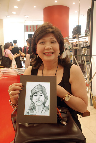 Portrait live sketching for Marella boutique - 2