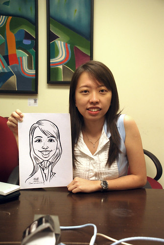 Caricature live sketching @ UOB Finance Division - 5a