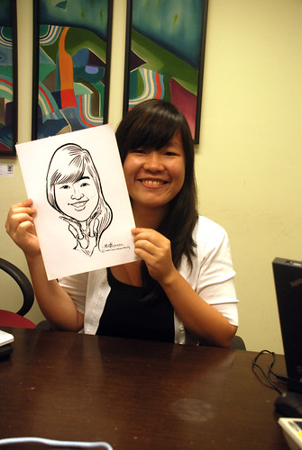 Caricature live sketching @ UOB Finance Division - 7