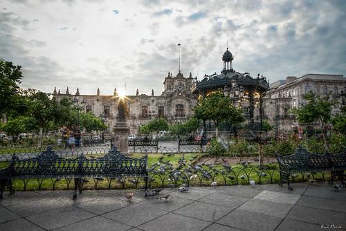 Quiosco , Plaza de Armas, Palacio de Gobierno, Guadalajara, Jalisco, Mexico