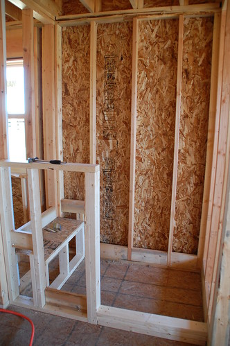 DIY Walk-In Shower: Step 2- Lining - DIYdiva