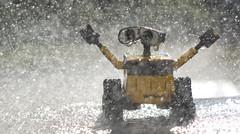 Day 247/365 Y2 - The Final Splashdown...  (Weekend Miniseries 1/2) (Brian Scott Berkovitz Photography) Tags: wet water yellow toy robot droplets play bokeh drop disney plastic drip pixar 365 splash walle project365 walle365