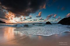 Please don't go (saki_axat) Tags: sunset sea summer sky sun seascape beach nature canon landscape atardecer coast mar sand wave playa bizkaia bakio cantabrico 50d
