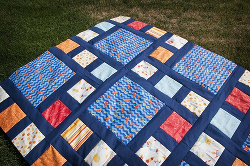 Rocket Me to the Moon Quilt Top