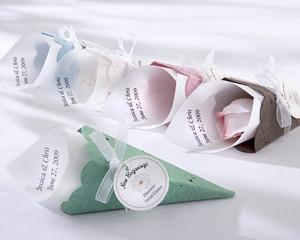 yaz için nikah şekeri önerisi renkli koniler