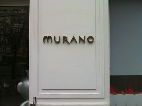 Hotel le Murano à Paris, salle du restaurant