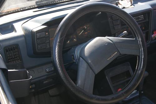 Hyundai Excel Interior. Excel Interior