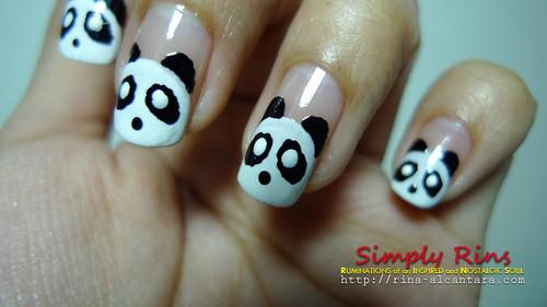 Nail Art Panda 03