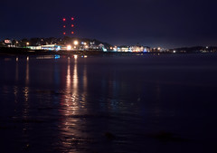 Nantasket at Night (Johnny Sullivan) Tags: longexposure beach night ma lights sand long exposure shoreline reflected hull nantasket