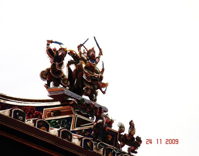 DSC01908 马六甲青云亭屋顶雕饰, Cheng Hoon Teng Temple,Malacca